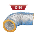 Gaine aluminium isolée - Diamètre: 80 mm - Longueur 10 m