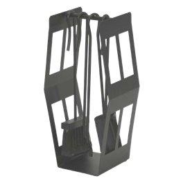 Serviteur de cheminée 4 pièces noir
