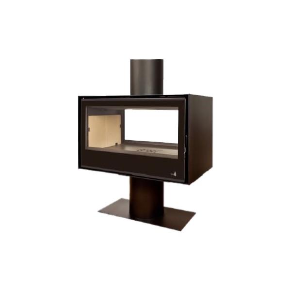 po le bois termofoc sl290df avec pied. Black Bedroom Furniture Sets. Home Design Ideas