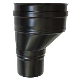 Réduction conique décentrée noire - Ø 80 M - 150 F