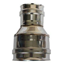 Manchette réduite 180F/200F simple paroi inox