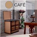 Cuisinière à bois 145 GN acier émaillé cappuccino