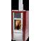 Poêle mixte Paterno Hybrid Céramique M07 Rouge