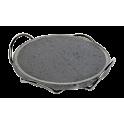 Plaque de cuisson ronde en pierre de lave 28cm