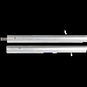 Canne de ramonage en aluminium - Longueur : 1 m