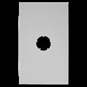 Plaque de finition plafond blanche - Diamètre : 160 mm