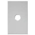 Plaque de finition plafond blanche - Diamètre : 80 mm