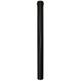 Longueur droite noir 1000 mm - Ø 80