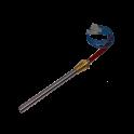 Résistance/ bougie allumage - Puissance 350W L:147mm Ø 12.5mm Fixation: 3/8