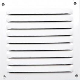 Grille aluminium laquée blanc avec moustiquaire 15x15 cm
