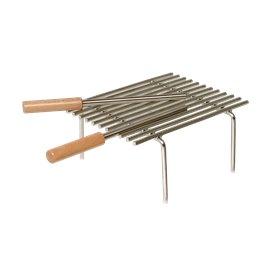 Grille de cuisson grand modèle pour cheminée ou barbecue
