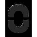 Plaque de finition ronde noire Ø 80 mm