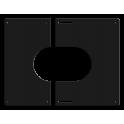 Plaque de finition carrée noire Ø 200 mm