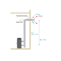 Kit de raccordement ventouse coaxial Ø 80 mm pour poêle à pellets