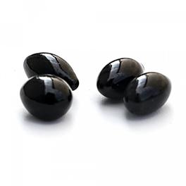 Pierres décoratives noires forme ovale