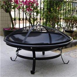 Brasero rond noir - Diamètre 75 cm - Hauteur 40 cm