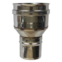 Réduction simple paroi inox - Ø 80 M - 150 F