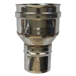 Réduction simple paroi inox - Ø 200 M - 220 F