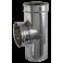 Té à 90° double paroi inox - Diamètre int/ext: 100-150 mm