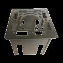 Kit distance de sécurité avec collier de fixation pour double paroi diamètre 80mm