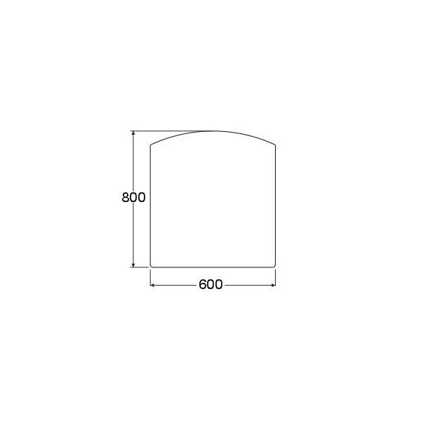 plaque de sol forme f en acier noir 600 x 800 mm. Black Bedroom Furniture Sets. Home Design Ideas