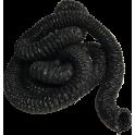 Flexible noir Ø 60 mm résistant jusqu'à 100°C - vendu au mètre