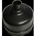 Bouchon de condensation acier noir - Diamètre: 100 mm
