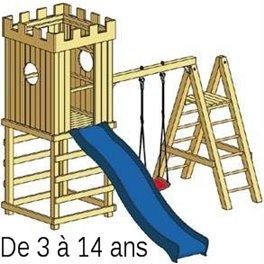 Structure de jeu en bois Arthur v.1