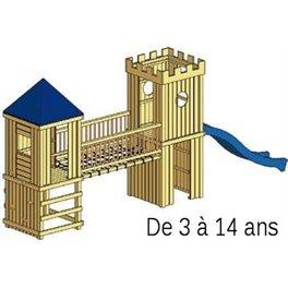 Structure de jeu en bois Arthur v.3