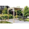 Abri à vélos (Bikeport) Type 2 autoclave toit PVC