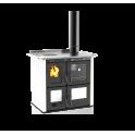 Cuisinière à bois hydro Ilaria 703 T-I acier émaillé blanc