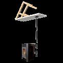 Kit de raccordement sur conduit au plafond pour poêle à granulés - Diamètre: 80 mm