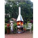Cheminée d'extérieur - barbecue DN 800 Exclusiv inox brossé